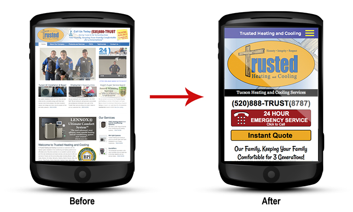 Trusteing Heating And Cooling Mobile Site Mobile